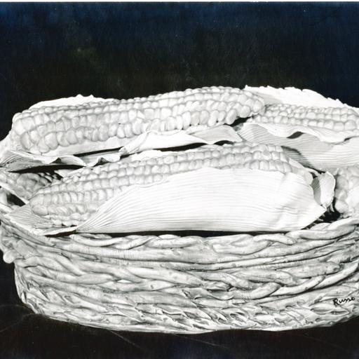 Basket with panicles of indian horn