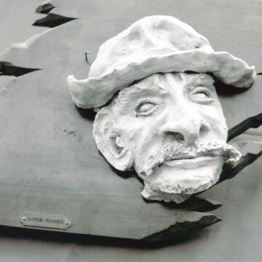 Face of an old man (on wood support)